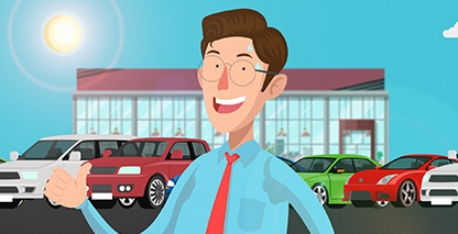 2D Car Wholesale Animated Promo
