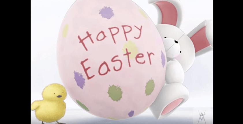 Happy Easter Rabbit 3D Animation | Client Hallmark