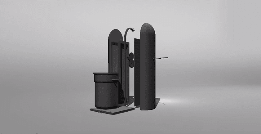 New Product Prototype Animation – Trashcan Lifter